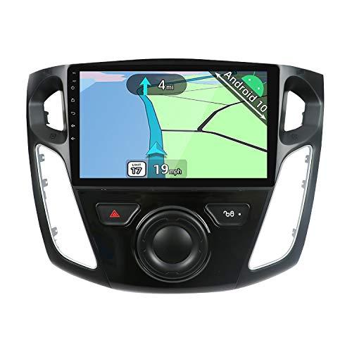 YUNTX PX6 Android 10 Autoradio Compatible avec Ford Focus(2012-2015) - [4GB+64GB] - 9 Pouces - GPS 2 Din - Caméra arrière GRATUITES -Soutien DAB/ Commande Au Volant /WiFi/Bluetooth/Mirrorlink/Carplay