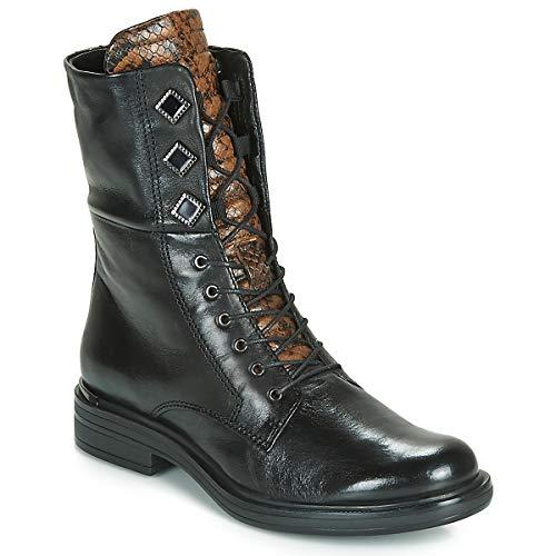 Mjus Cafe Metal Stiefelletten/Boots Damen Schwarz - 39 - Boots