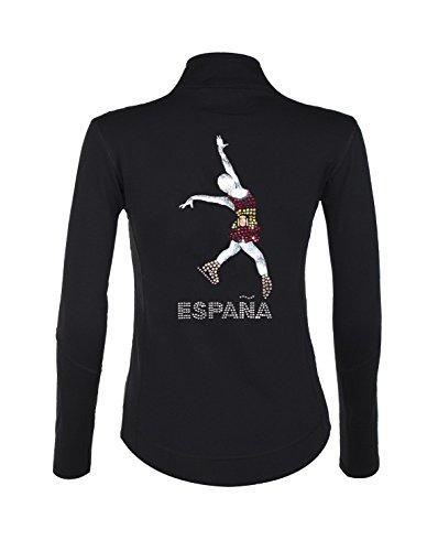 PARADICE Jacke Skate mit Steine glänzend, Qualität AAA +, Motiv Flagge Spanien … (12)