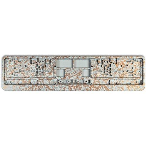 KFZ Kennzeichenhalter Design Nummernschildhalter (Copper - 40026)