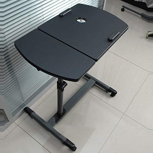 Yxsd Lazy Mesa auxiliar para sofá, mesita de noche, mesita de noche, escritorio pequeño con ventilador USB (color negro)