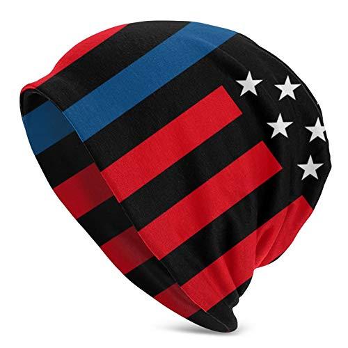 Hangdachang Amerikanische Flagge Blue Womens Slouchy Beanie Baumwolle Kopfbedeckungen...