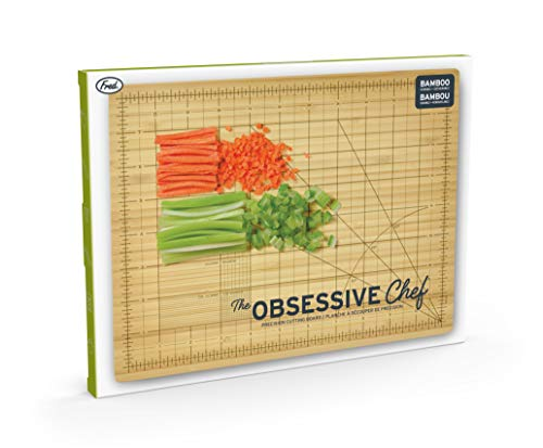 Fred THE OBSESSIVE CHEF Bamboo Cutting Board, 9-inch by 12-inch