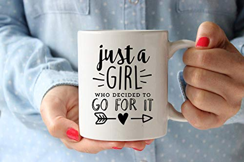 WTOMUG Just A Girl Who Decided To Go For It Mug Girl Boss Mug Boss Babe Mug Gift for Boss Coworker Small Business Owner Entrepreneur Gift Cup 11 oz