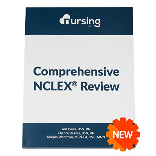 NURSING.com Comprehensive NCLEX Book [458 Pages] (2020, review for nursing students, full-color, content + practice questions + answers + cheat sheets)