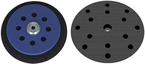Plato lijador para MAKITA BO6030 BO6040 - Disco de lijado de Velcro Ø 150 mm - con 15-agujero para la extracción de polvo - suave o duro - a su elección - DFS