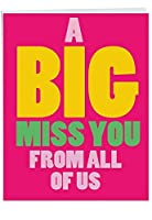 A Big Miss You - Loving Miss You Greeting Card with Envelope (Big 8.5 x 11 Inch) - Big, Bold Letters, Thinking of You Card from All of Us J2733MYG-US [並行輸入品]