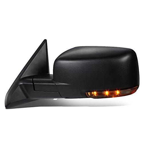 DNA Motoring TWM-037-OE-T888-BK-L Left/Driver Side Heated Defroster Mirror W/LED Signal [For 09-16 Ram Truck]