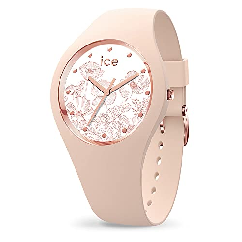 Ice-Watch - Ice Flower Spring Nude - Montre Rose pour Femme avec Bracelet en Silicone - 016663 (Small)