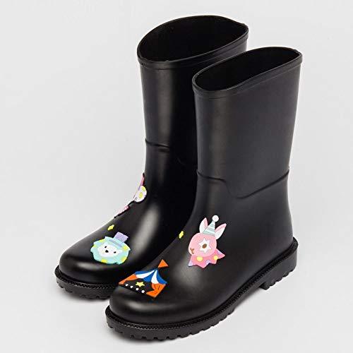 Wellies Rubberen laarzen, regenlaarzen, voor dames, herfst en winterlaarzen, waterschoenen, modieus, rubber, voor outdoor, bevroren, zomer glijder in de regen