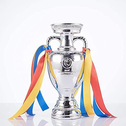 DHTOMC Trofeo de la UEFA Trofeo del Campeonato de Europa de Fútbol con cintas para los fans del recuerdo de la colección de regalos Adornos - 16 cm