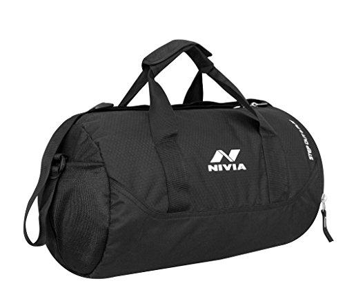 Nivia 5183 Gym Bag (Black)