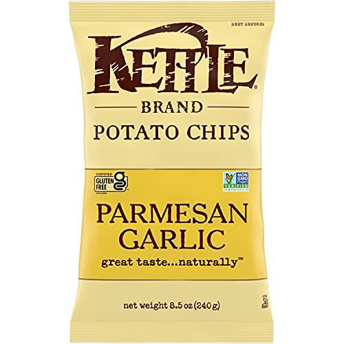 Kettle Heroes Brand Potato Chips, Parmesan Garlic Kettle Chips, 8.5 Oz