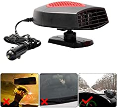 Portable Car Heater,Auto Heater Fan,Car Defogger, Fast Heating Quickly Defrosts Defogger 12V 150W Auto Ceramic Heater Fan 3-Outlet Plug in Cig Lighter (Red)