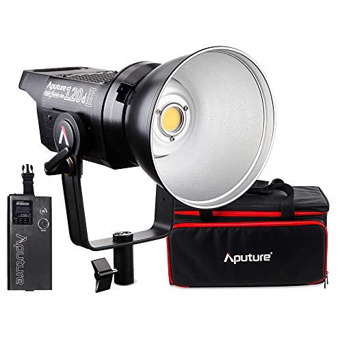 Aputure 120d Mark II Lampe vidéo à LED Studio Storm Storm LS C120d II Lampe vidéo Continue à 180W 5500K LED 30000 Lux (0.5m) CRI96 + TLCI 97 + Support Bowens + Mise à Niveau
