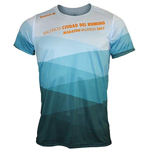 Luanvi Edición Limitada Camiseta técnica Duna, Hombre, Celeste, M (50-68cm)