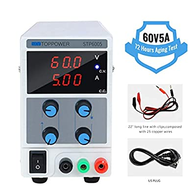 60V 5A DC Bench Power Supply Variable