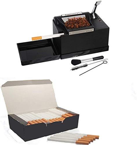 Powermatic 2 plus + 1000 tubos tabaco de liar rellenar cigarros para entubar Maquina de liar tabaco/Maquina de entubar cigarrilos electrica/entubadora