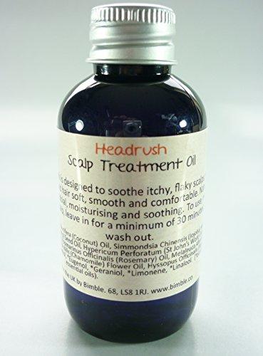 Huile de traitement Headrush de la marque Bimble pour cuir chevelu sec, démangeaisons et pellicules