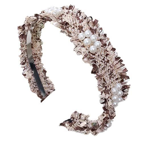 Fashion Lady Accessoires De Cheveux en Épingle À Cheveux Simple Perles À Franges Fine Edge Brillant Bandeau Fille 5 Couleurs en Option