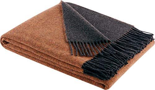 Biederlack Decke Sofaüberwurf Plaid Wolle bunt 130 x 170 cm
