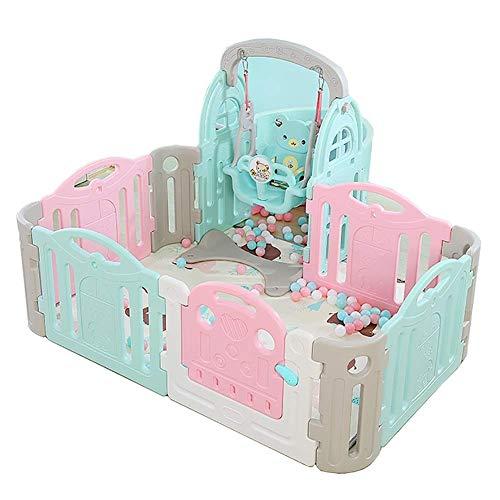 PNFP Baby-looprooster, draagbaar met schommel, indoor-veiligheid speelplaats kinderspeelhek