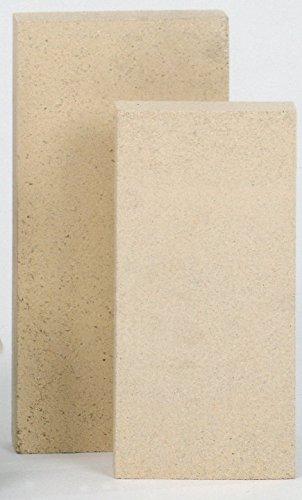 FIREFIX 2051 Schamottestein (formgepresst) 30 mm stark, Abmessung 300 x 150 mm, Gelblich