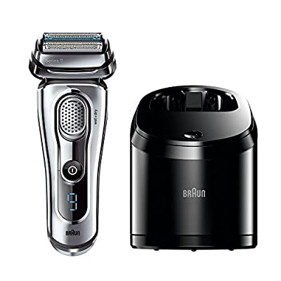 Braun Series 9 9095CC Men's Electric Foil Shaver Wet and Dry with Clean and Renew Charger Rechargeable and Cordless Razor by Procter & Gamble