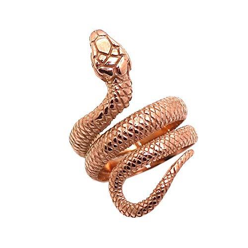 SALAN Regalo Dell'anello del Serpente del Serpente di Colore Dell'oro della Rosa dell Acciaio Inossidabile 316l dell Acciaio Inossidabile per La Ragazza delle Donne