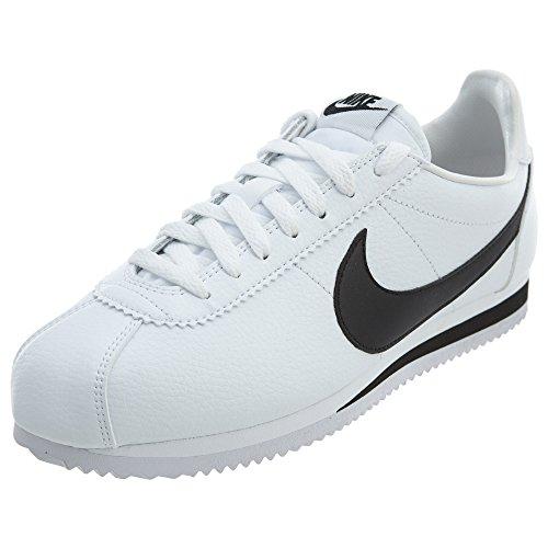 Nike Unisex-Erwachsene Classic Cortez Leather Fitnessschuhe, Mehrfarbig (749571 100 Blanco), 42.5 EU