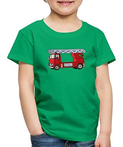 Feuerwehr Einsatzleiter Löschwagen Feuerwehrmann Kinder Premium T-Shirt, 122-128, Kelly Green
