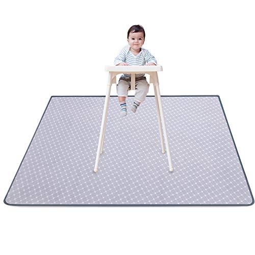 HBselect Hochstuhl Spritzschutzmatte für Mahlzeit Babys schützende Bodenspritzschutzmatte wasserdicht rutschfest Bodenschutz Matte Unterlage 130x130 cm
