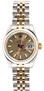 Rolex Ladys 179173 Datejust Steel & 18k Gold, Jubilee Band, Fluted Bezel & Champagne Stick Dial Reviews and For Sale and review