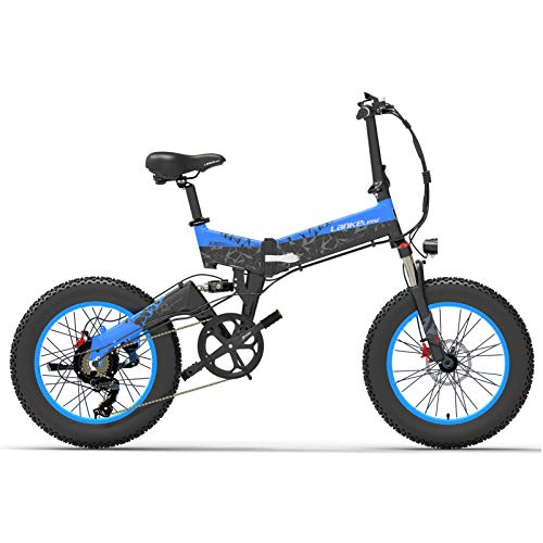Lixada Bicicleta Eléctrica Deportiva Plegable de Asistencia Eléctrica de 1000 W y...