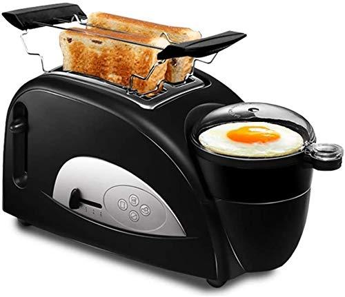 Mopoq Mini automática Tostadora multifunción 2 rebanadas Tostadora de acero inoxidable Inicio automático de múltiples funciones desayuno Tostadora apropiados fácil limpieza ajustable