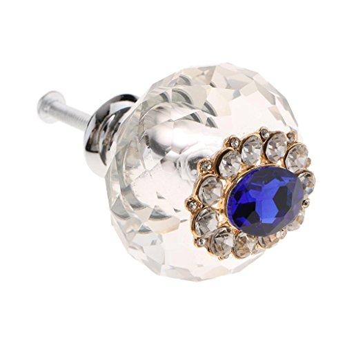 D DOLITY Moderne Pull Knob Möbelknopf Schrankknöpfe Knöpfe Griffe für Kleiderschrank Schubladen - # 3 Blauer Diamant