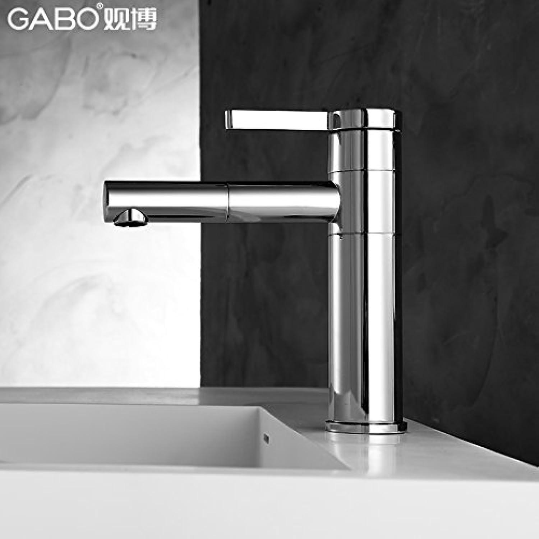 LHbox Blick auf Das Becken von Warmen und Kalten 360 Grad schwenkbare Waschbecken Waschbecken Armaturen Einzelne Bohrung 18 F011