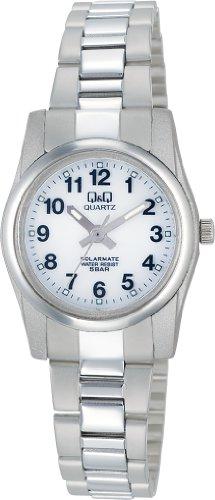 [シチズン Q&Q] 腕時計 アナログ ソーラー 防水 メタルバンド H971-204 レディース ホワイト