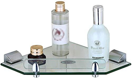 Fuerte Baño Esquina Montado en Pared Rack de Ducha Cuarto de Almacenamiento Estante de Baño Baño Colgante de Cristal de la Esquina de Baño Accesorios