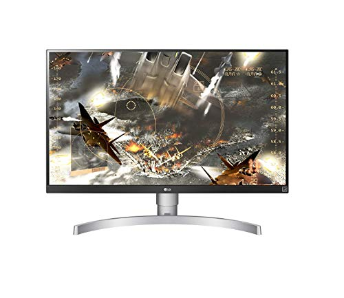 LG 27UL650 Monitor 27' UltraHD 4K LED IPS HDR 400, 3840x2160, 1 Miliardo di Colori, AMD FreeSync 60Hz, HDMI 2.0 (HDCP 2.2), Display Port 1.4, Uscita Audio, Stand Pivot, Flicker Safe, Bianco