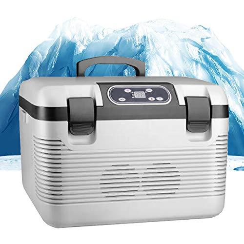 LBWNB Auto Mini-Kühlschränke, Tragbare Thermo-Elektrische Bierkasten Warmhaltebox 19L Kühlbox Getränkekühlschrank Für Road Trip, Picknick, Camping