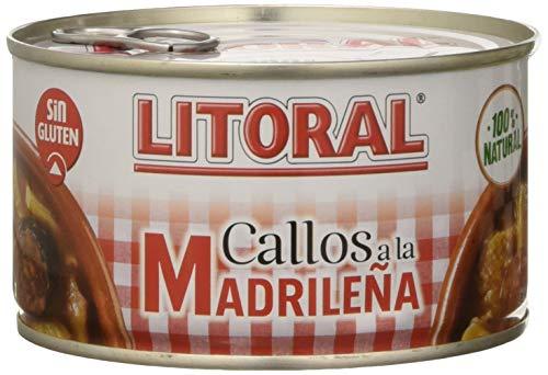 LITORAL Callos Madrileña - Plato Preparado Sin Gluten - Paquete de 12x380g - Total: 4.56kg
