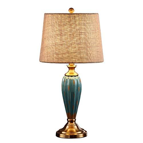 -lampara mesa Accesorios de lámpara de mesa Dimmable Sala de estar Estudio Dormitorio Mesita de noche Arpillera Lámpara de cerámica Cuerpo Lámpara de mesa minimalista moderna Lámpara de mesa decorativ