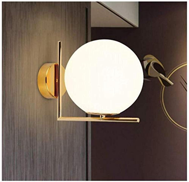 Einfache Wandleuchte der kreativen Persnlichkeit nordische postmoderne Glaskugelwandlampe Schlafzimmernachttischlampenflurganglichter