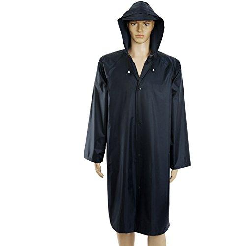 LXJ Raincoat Poncho Mens Women,Waterproof Outdoor Rain Jacket, Anti-Wrinkle Reusable Waterproof Rain Poncho, Best for Outdoor Activities Unisex (Size : XXXL)