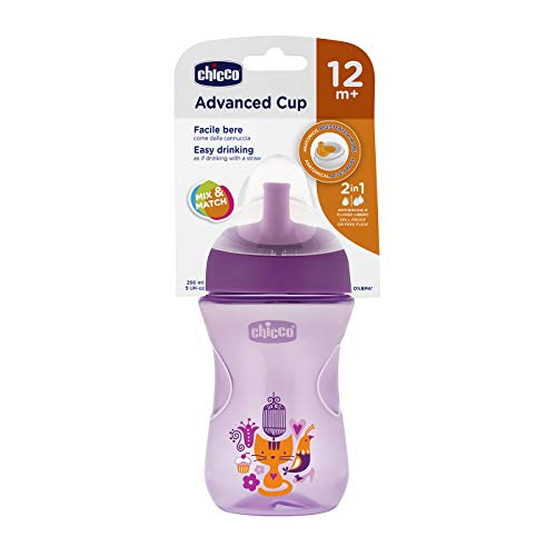Chicco 00006941100000 Tazza Advanced 12M+, Rosa/Viola