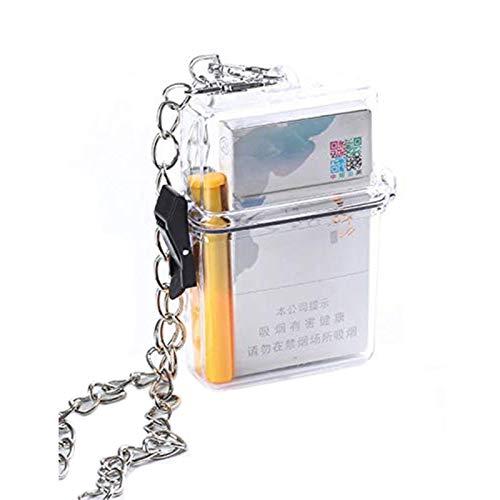 Cigarrillo caso Ins acrílico transparente decoración puede coincidir con cadena colgante cadena impermeable caja de cigarrillos