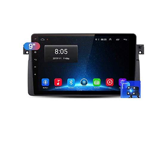 Radio de coche Android 8.1, GPS, pantalla táctil de 10 pulgadas, estéreo, TV, para BMW E46 (M3 Rover), con control en el volante, Bluetooth, manos libres, conexión DAB, USB, MP5 SWC, 4G + WIFI2G + 32G