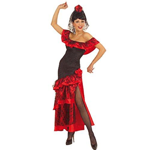 NET TOYS Spanische Tänzerin Kostüm Flamenco Kleid mit Schleier S 34/38 Spanierin Damenkostüm Tanzkleid mit Kopfschmuck Mexikanerin Faschingskostüm Sexy Karnevalskostüm Karneval Kostüme Damen