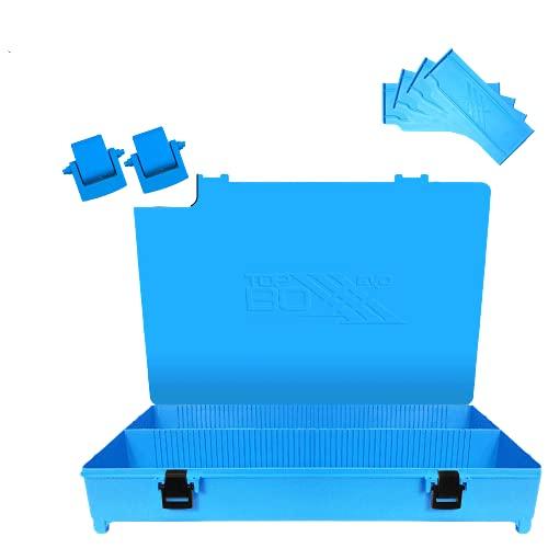Evo 3POD - Caja de pesca Top Boxxx Evo (2.18) | Soporte superior del cajón Seat Box | Accesorio ideal para el equipo de pesca como bobinas, hilo, carretes | Fabricado en Italia – Color azul claro